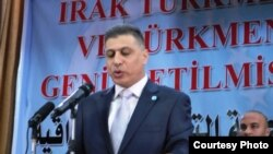 رئيس الجبهة التركمانية العراقية أرشد الصالحي يتحدث في كركوك