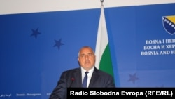 Bosnia and Herzegovina -- Boyko Borissov, the Prime Minister of Bulgaria, Sarajevo, October 27, 2017.