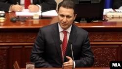 Nikola Gruevski u parlamentu