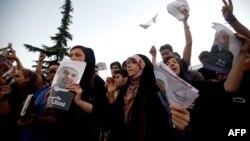 Хасан Руханинин Тегерандагы шайлоо митинги. 12-июнь, 2013-жыл.