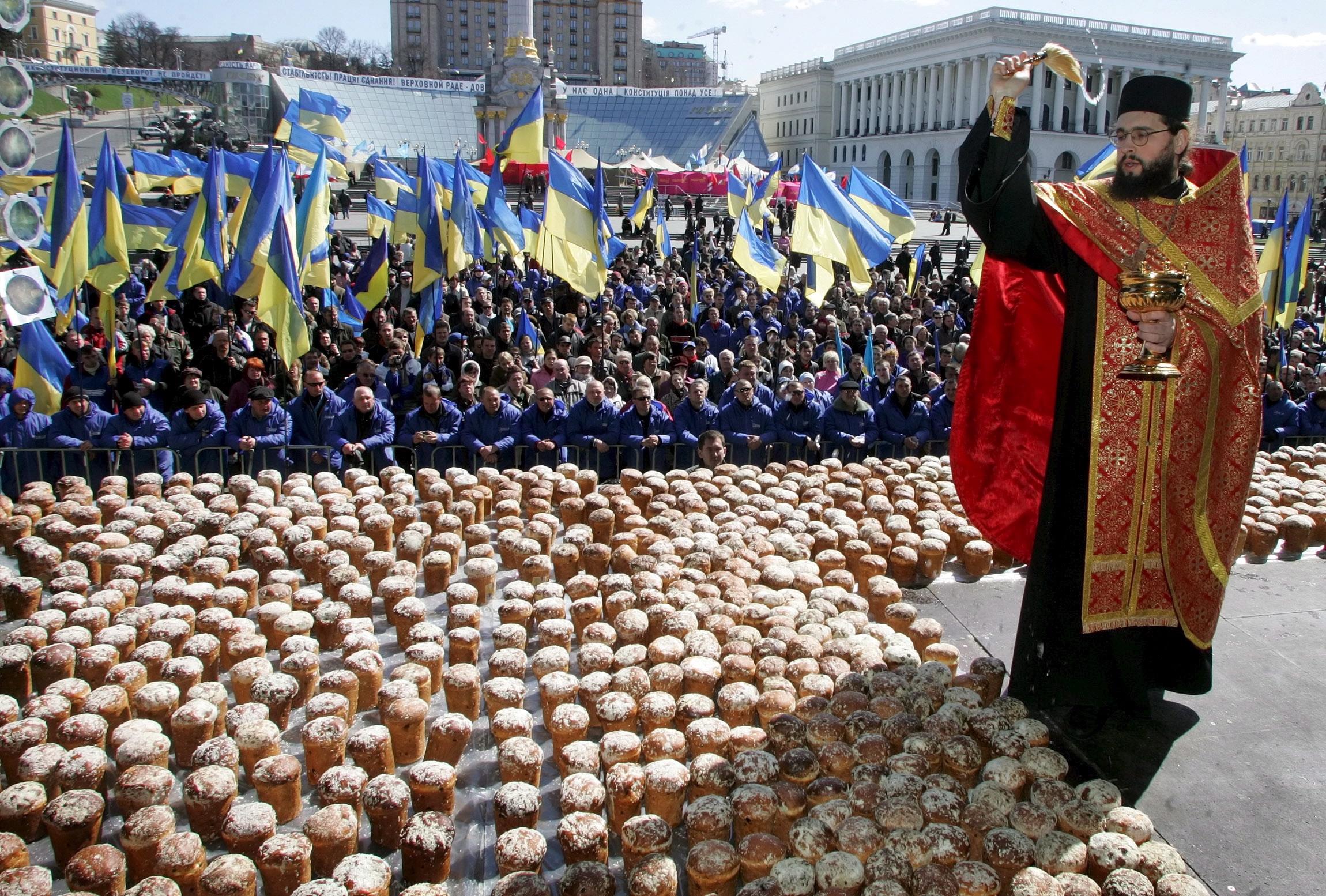 Вялікдзень на Майдане Незалежнасьці, Кіеў