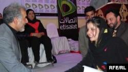 Hassiba Shahid receives her award