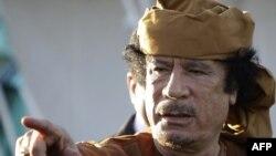 Ливияның бұрынғы президенті Муаммар Каддафи.