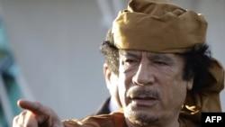 Ливияның бұрынғы жетекшісі Муаммар Каддафи. 10 сәуір. 2011