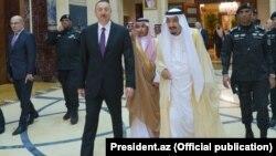 Ilham Aliyev və Salman Bin Abdulaziz Al Saud