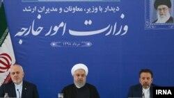 سخنرانی حسن روحانی در وزارت خارجه در روز سهشنبه