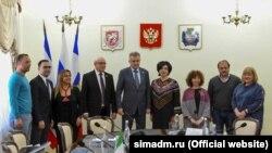Российские руководители Симферополя с итальянскими гостями в Симферополе