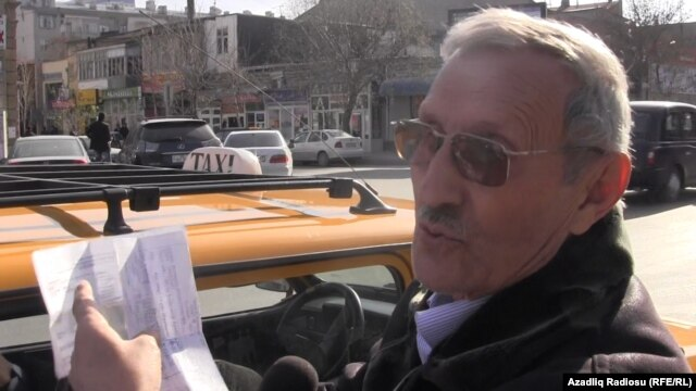 Ministry officials refused to accept taxi driver Elman Mammadov's tax receipts because he paid at the wrong bank.