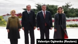 Украина жана Түркиянын президенттери аялдары менен.