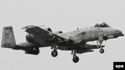 Штурмовой самолет ВВС США А-10.