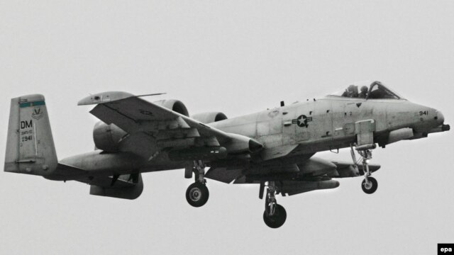 A U.S. A-10 Warthog ground-attack plane landing in Afghanistan. (file photo)