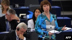 Кэтрин Эштон, верховный представитель Евросоюза по внешней политике. Страсбург, 11 сентября 2012 года.