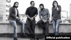گروه چارتار، از راست: احسان حائری، آئین احمدیفر، آرمان گرشاسبی و آرش فتحی