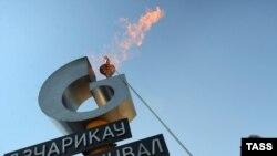 Открытие газопровода Дзуарикау-Цхинвали в августе 2009 года