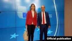 Министерот Тевдовски и гувернерката Ангеловска - Бежоска на Дијалогот ЕУ - Западен Балкан - Турција