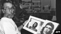 «آلبرتو کودرا»عکاسی که عکس معروف چه گوارا را در مراسمی در سال ۱۹۶۰ از وی گرفت. (عکس:Afp)