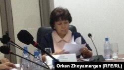 Депутат мажилиса парламента Казахстана и уполномоченный по правам ребенка в Казахстане (детский омбудсмен) Загипа Балиева.