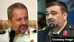 حسین اشتری (راست) و اسماعیل احمدی مقدم