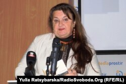Леся Степовичка, поетеса. Дніпро, 6 листопада 2018 року