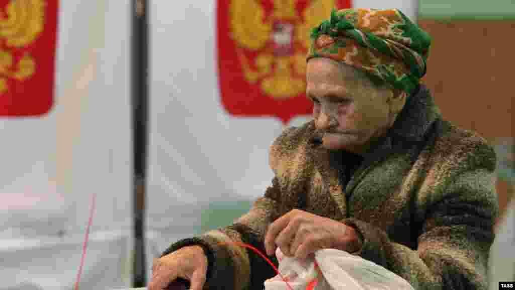Избирательница в Ульяновске