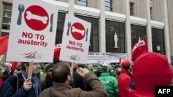 Protesta të mëhershme në Bruksel