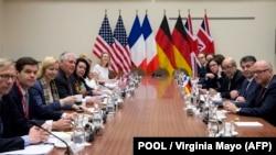 دیدار رکس تیلرسون وزیر خارجه وقت آمریکا با وزیران خارجه سه کشور اروپایی در دسامبر سال ۲۰۱۷