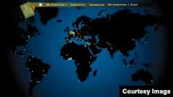 Карта резидентур и центров подготовки разведчиков коммунистической Чехословакии