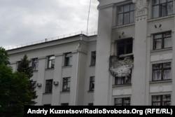 Последствия взрыва в здании Луганской ОГА, 2 июня 2014 года