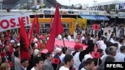 Pamje nga protesta e organizuar nga Lëvizja Vetëvendosje