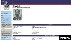Интерполдун интернет баракчасындагы М. Бакиевге жарыяланган издөө тууралуу маалымат, 6-май 2010-жыл