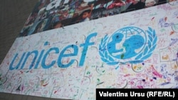 Moldova - UNICEF logo, United Nations (UN) Day, Nisporeni, 24Oct2012