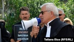 Emanoil Plosnița, la protestul avocaților, 26 iunie 2018