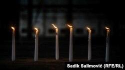 Šest svijeća za šest miliona ubijenih Jevreja tokom holokausta, Memorijalni centar Potočari 27. januara 2021. godine