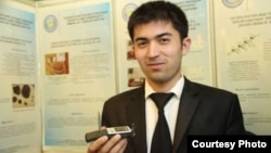 Uzbekistan - student of Tashkent State Technical University Sirojiddin Nasriddinov with his new invented mobil phone