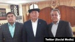 Камчыбек Ташиев, Сооронбай Жээнбеков и Молдомуса Конгантиев. Предвыборная кампания, 2017 год.