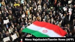 Ирандагы өкмөттү колдогон митинг.