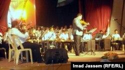 جانب من الحفل السنوي لمعهد الدراسات الموسيقية