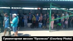 Очередь на КПВВ «Станица Луганская»