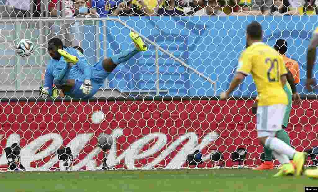 Ҷараёни бозии Колумбия - Соҳили Оҷ (Кот-д'Ивуар) дар Ҷоми ҷаҳон 2014 дар Бразил, ки ҳисоб 2-0 ба фоидаи Колумбия анҷом ёфт.