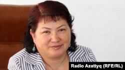 Алматы қаласы бойынша көші-қон департаментінің басшысы Гүлсара Алтынбекова. 9 тамыз 2010 жыл.