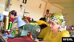 Tajikistan - Tajik women in the garment factory, 01Dec2009
