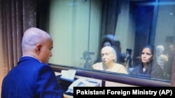 FILE: Kulbhushan Jadav met his wife and mother in Islamabad in December 2017.