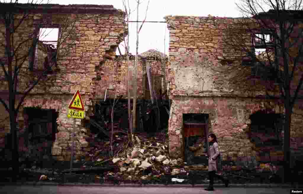 Elsewhere in Mostar, destruction from the 1992-95 war is still visible, as are the effects of postwar neglect.