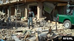 Кабулде болған жарылыс орны. Ауғанстан, 7 тамыз 2015 жыл.