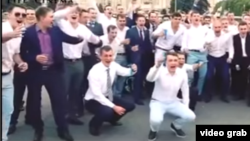 A boisterous FSB cadets' graduation party has raised hackles in Russia.