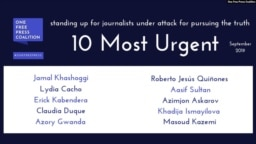 One Free Press 10 Most Urgent Cases