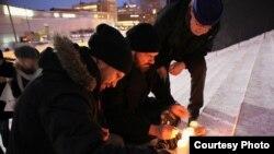 Finland - Picket in support of Belarusian prisoners, 27Dec2010