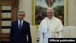 Papa Francis və Sarkisyan, 19 sentyabr, 2014