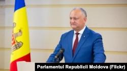 Președintele Igor Dodon (foto arhivă)