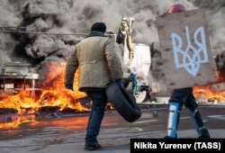Антиправительственные выступления в Киеве, февраль 2014 года